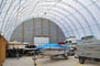 Fabric building as a hangar for yachts and boats